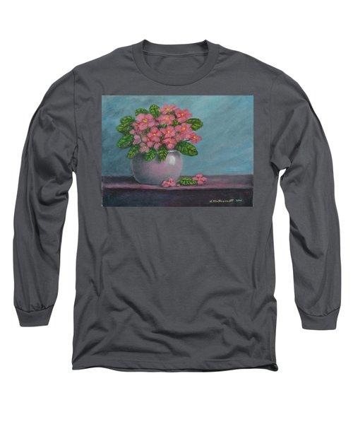 African Violets Long Sleeve T-Shirt by Kathleen McDermott