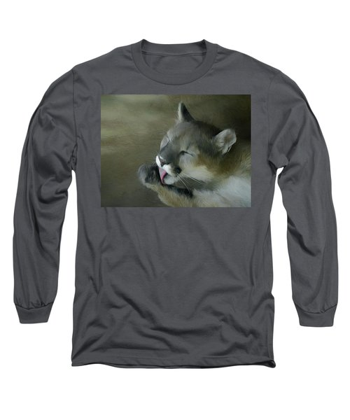 After Lunch Clean Up Long Sleeve T-Shirt by Ernie Echols