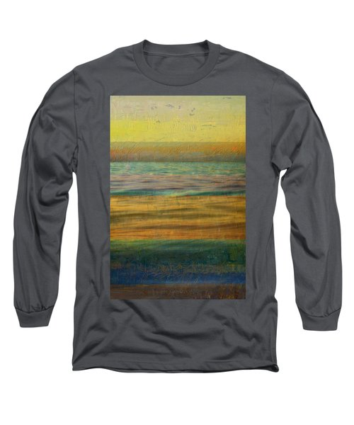 Long Sleeve T-Shirt featuring the photograph After The Sunset - Yellow Sky by Michelle Calkins