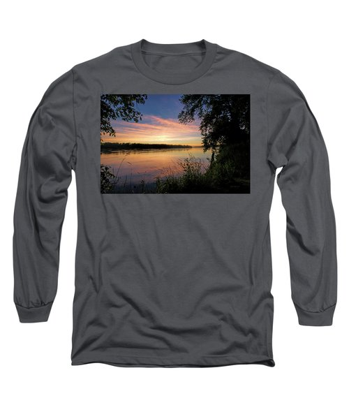 Long Sleeve T-Shirt featuring the photograph Afterglow by Cricket Hackmann