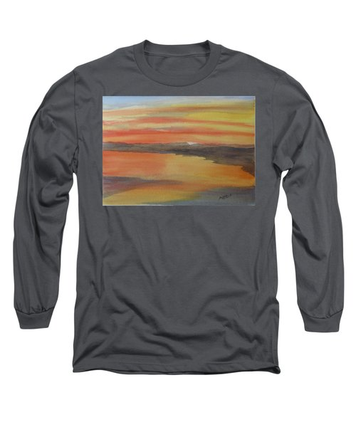Long Sleeve T-Shirt featuring the painting Afterglow by Joel Deutsch