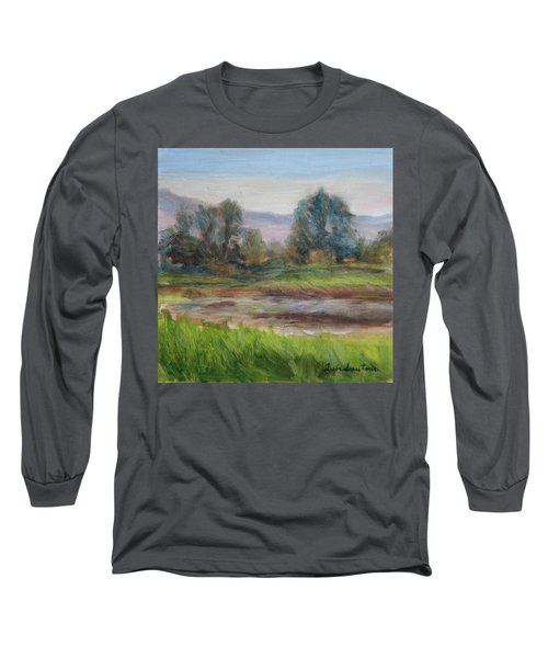 Afternoon At Sauvie Island Wildlife Viewpoint Long Sleeve T-Shirt