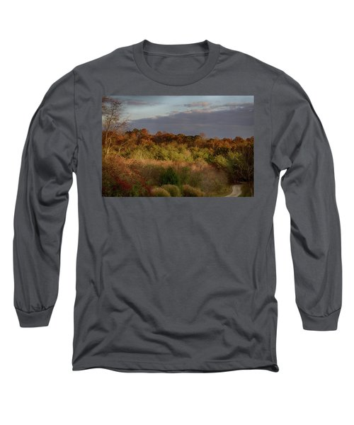 Afternoon Glow In Hocking Hills Long Sleeve T-Shirt by Haren Images- Kriss Haren