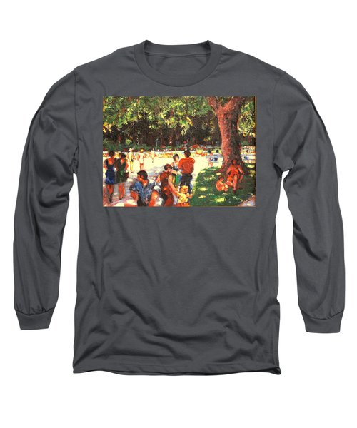 Afternoon In The Park Long Sleeve T-Shirt by Walter Casaravilla