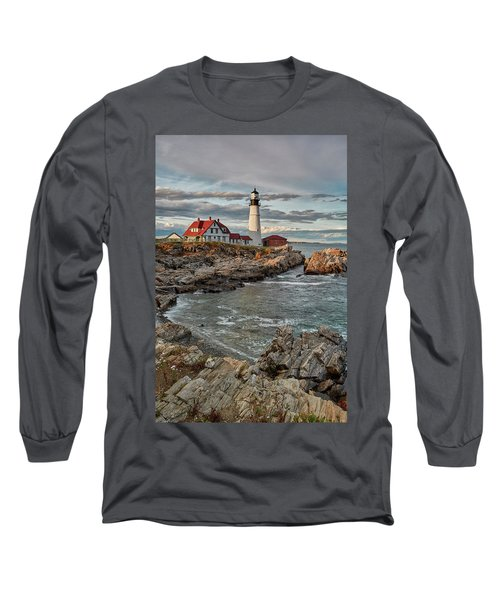 Afternoon Light At Cape Neddick Long Sleeve T-Shirt