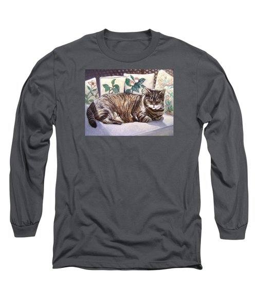 Long Sleeve T-Shirt featuring the painting Afternoon Nap by Laura Aceto