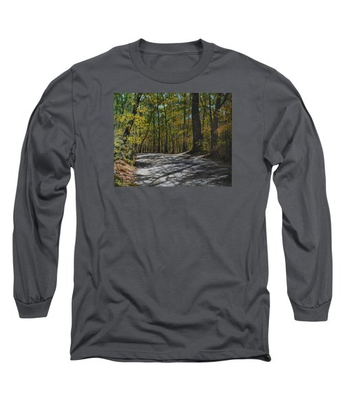 Afternoon Shadows - Oconne State Park Long Sleeve T-Shirt