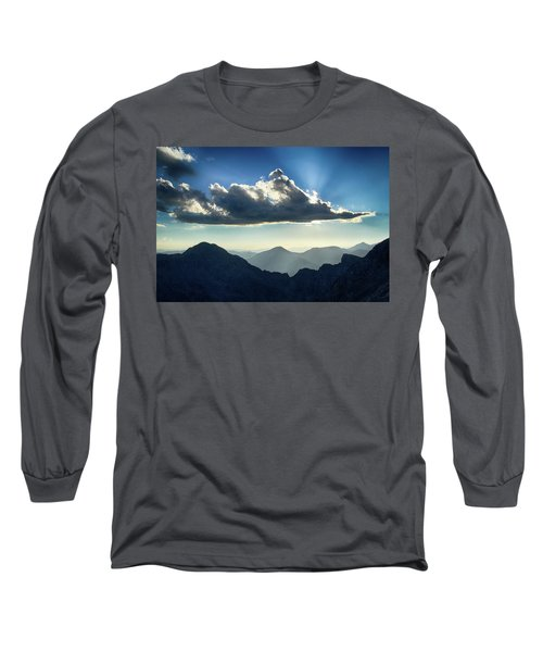 Long Sleeve T-Shirt featuring the photograph Afternoon Sunburst by Marie Leslie