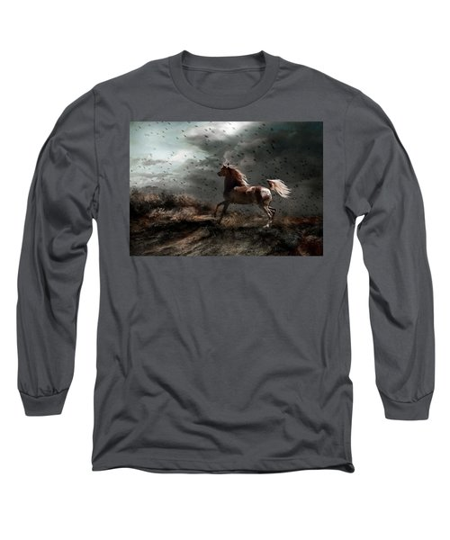 Long Sleeve T-Shirt featuring the photograph Against All Odds by Dorota Kudyba