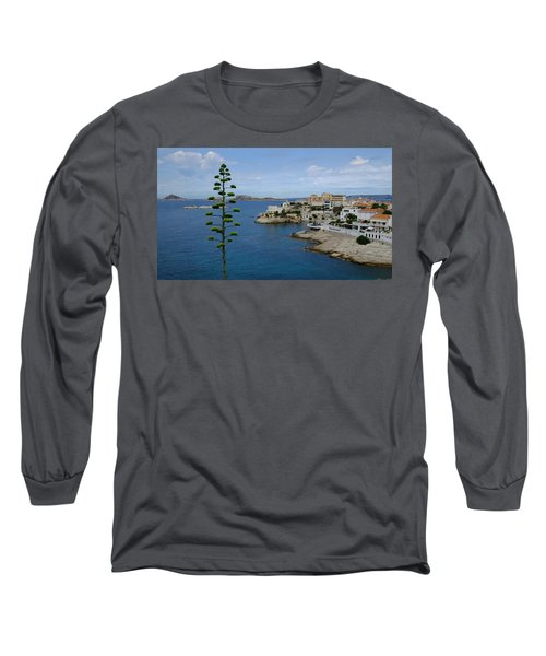 Long Sleeve T-Shirt featuring the photograph Agave At Corniche by August Timmermans