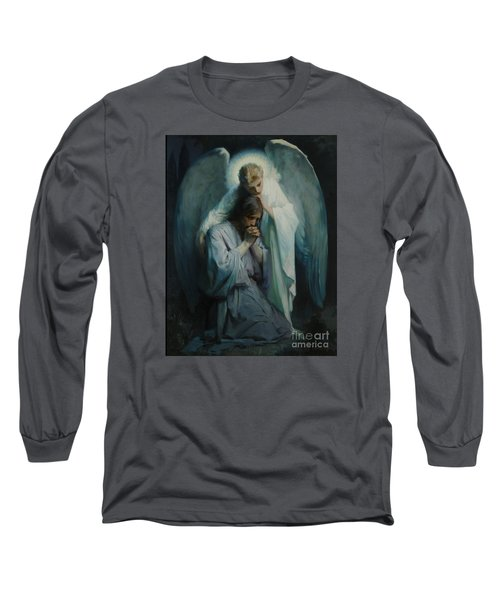 Agony In The Garden  Long Sleeve T-Shirt by Frans Schwartz