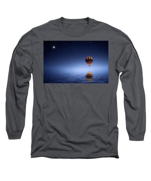Air Ballon Long Sleeve T-Shirt by Bess Hamiti