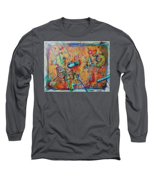 Digital Landscape, Airbrush 1 Long Sleeve T-Shirt by Pierre Van Dijk