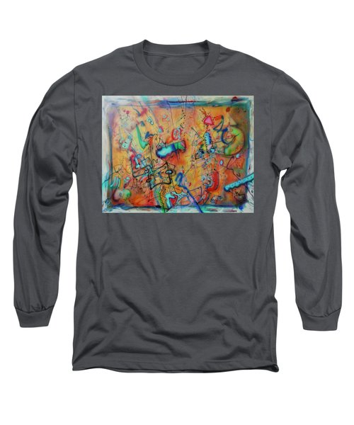 Digital Landscape, Airbrush 1 Long Sleeve T-Shirt