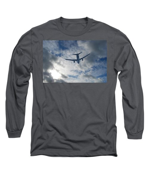 Long Sleeve T-Shirt featuring the photograph Airliner 01 by Mark Alan Perry