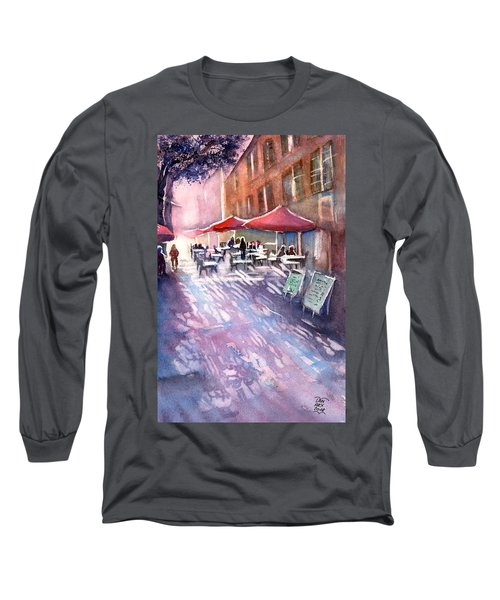 Aix En Provence Early Morning Coffee Long Sleeve T-Shirt