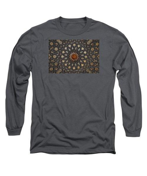 Long Sleeve T-Shirt featuring the photograph Al Ishaqi Wood Panel by Nigel Fletcher-Jones
