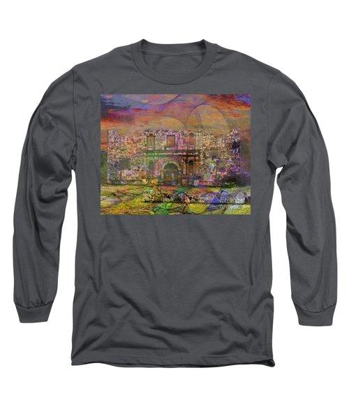 Alamo - After The Fall Long Sleeve T-Shirt by John Robert Beck