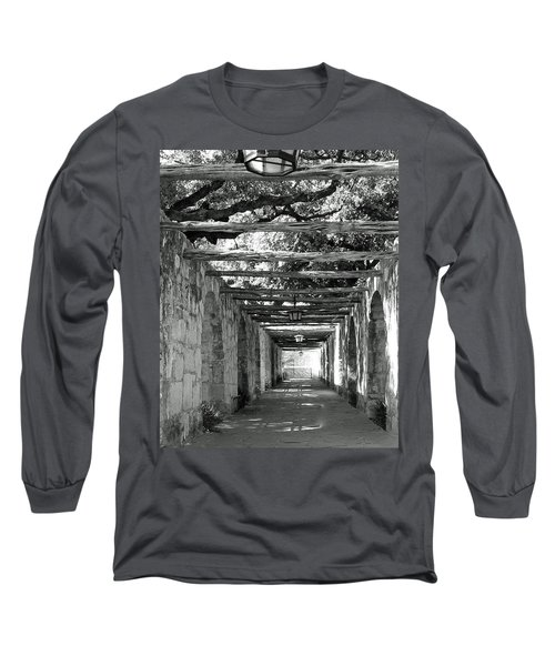 Alamo Corridor Long Sleeve T-Shirt by Debbie Karnes