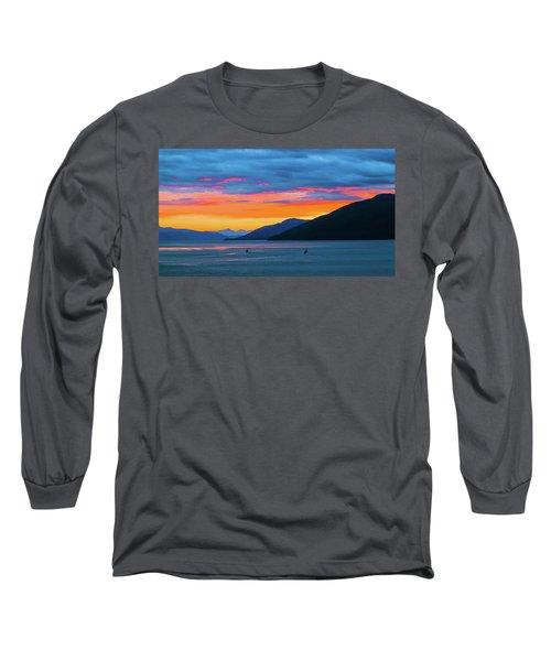 Alaska Fishermans Sunset Long Sleeve T-Shirt