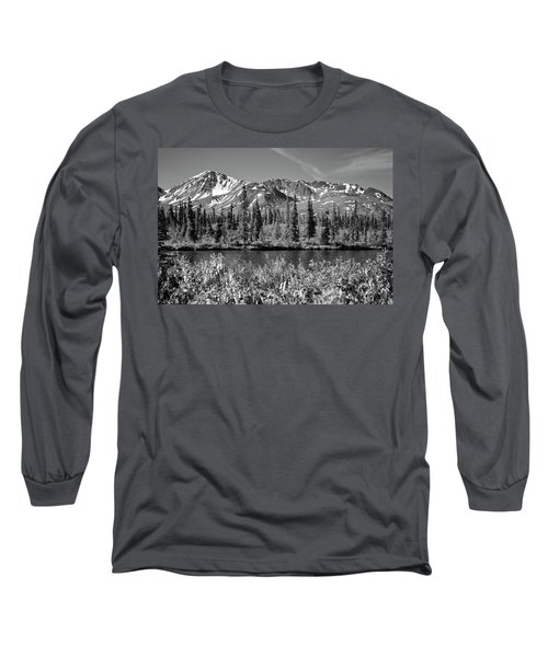 Long Sleeve T-Shirt featuring the photograph Alaska Mountains by Zawhaus Photography