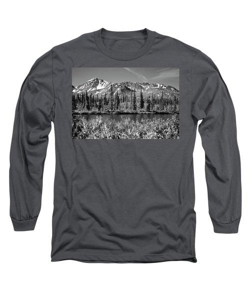 Alaska Mountains Long Sleeve T-Shirt by Zawhaus Photography