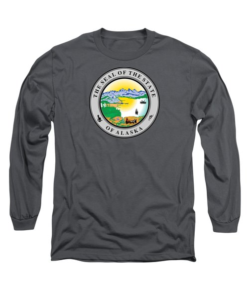 Alaska State Seal Long Sleeve T-Shirt by Movie Poster Prints
