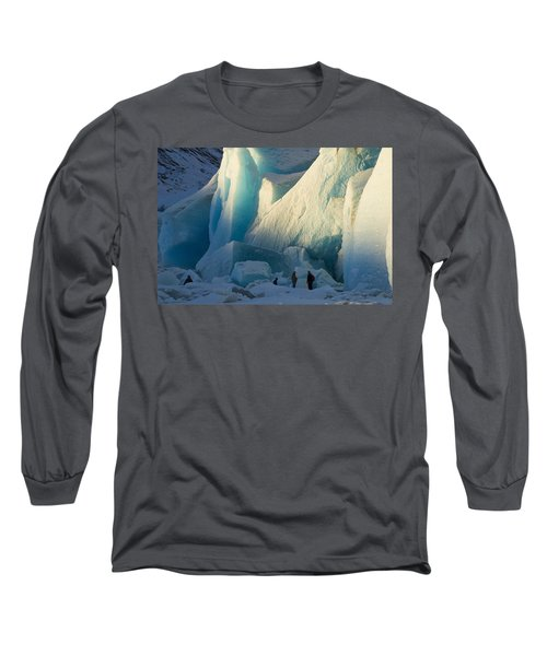 Long Sleeve T-Shirt featuring the photograph Alaskan Glacier Last Rays Of Light by Yulia Kazansky
