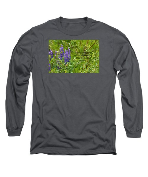 Long Sleeve T-Shirt featuring the photograph Alaskan Lupine Heaven by Diane E Berry