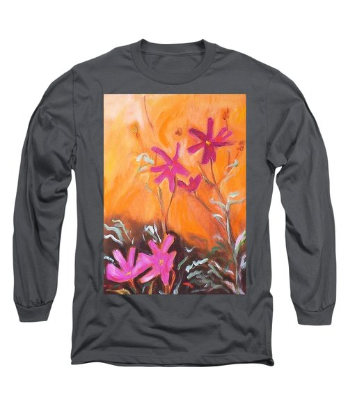 Long Sleeve T-Shirt featuring the painting Alba Daisies by Winsome Gunning