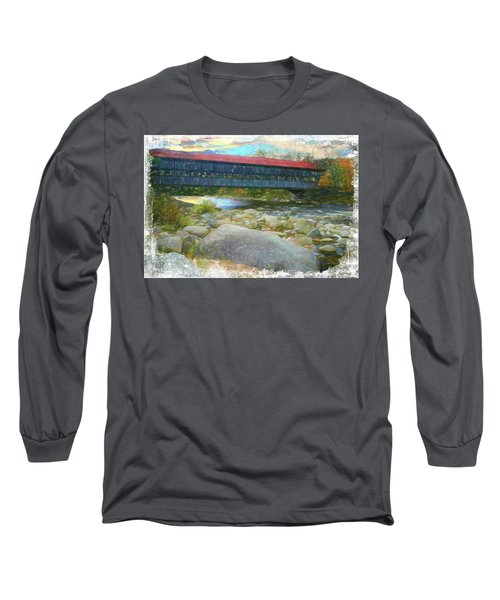 Albany Covered Bridge Nh. Long Sleeve T-Shirt
