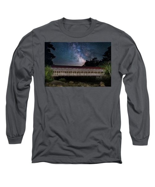 Albany Covered Bridge Under The Milky Way Long Sleeve T-Shirt