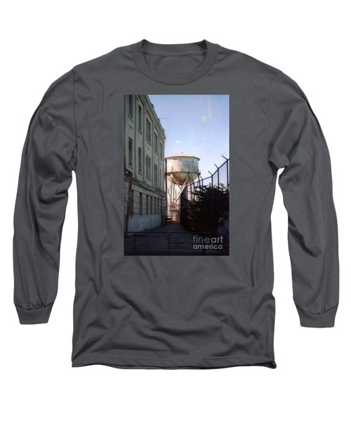 Alcatraz Water Tank  Long Sleeve T-Shirt by Ted Pollard