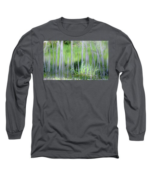 Alder Reflections Long Sleeve T-Shirt by Sheila Ping