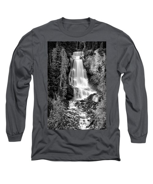Long Sleeve T-Shirt featuring the photograph Alexander Falls - Bw 1 by Stephen Stookey
