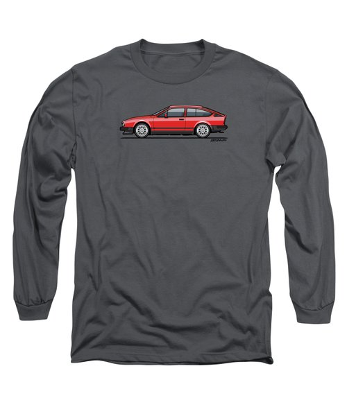 Alfa Romeo Gtv6 Red Long Sleeve T-Shirt by Monkey Crisis On Mars