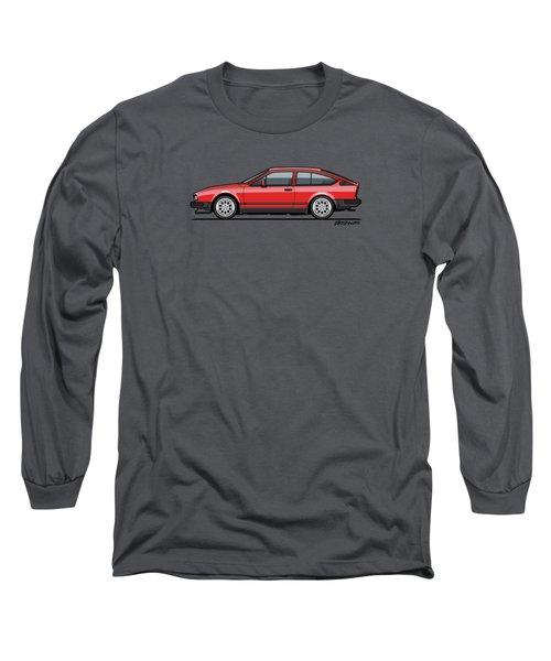 Alfa Romeo Gtv6 Red Long Sleeve T-Shirt