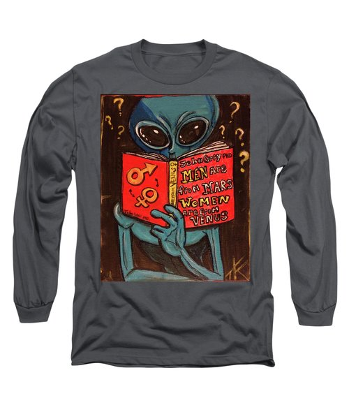 Alien Looking For Answers About Love Long Sleeve T-Shirt