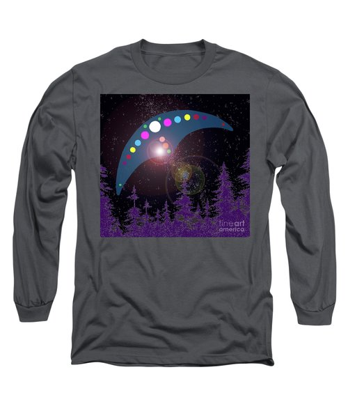 Long Sleeve T-Shirt featuring the painting Alien Skies by James Williamson