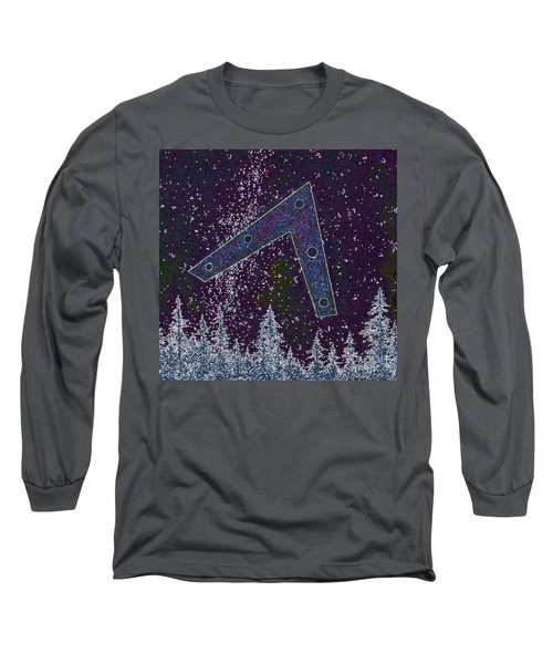 Long Sleeve T-Shirt featuring the painting Alien Skies Ufo by James Williamson