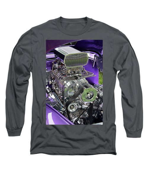 All Chromed Engine With Blower Long Sleeve T-Shirt