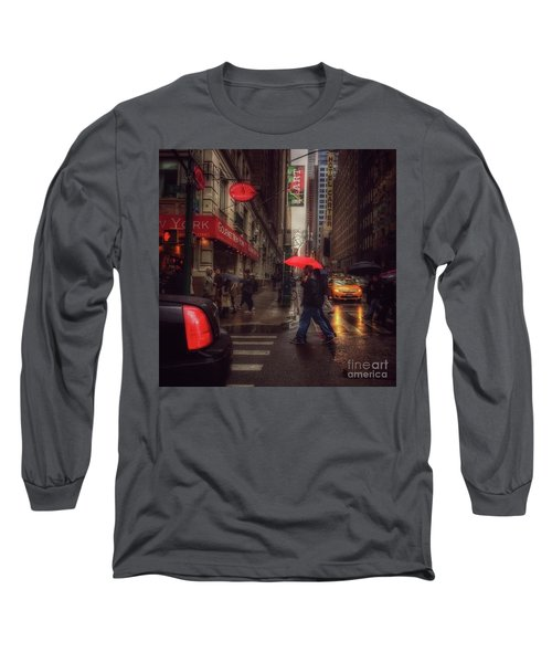 All That Jazz. New York In The Rain. Long Sleeve T-Shirt