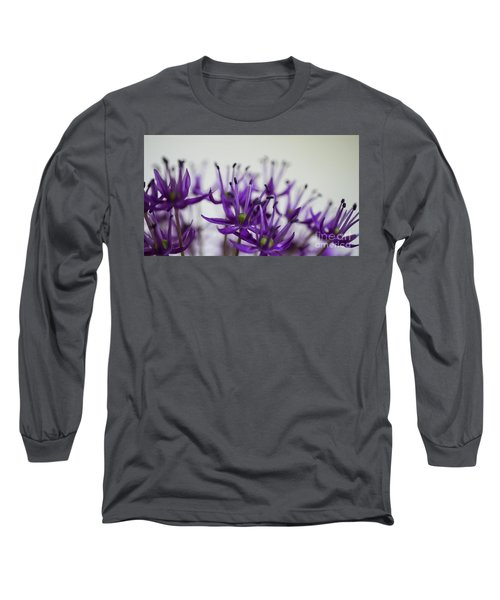 Allium Aflatunense Sideview Long Sleeve T-Shirt