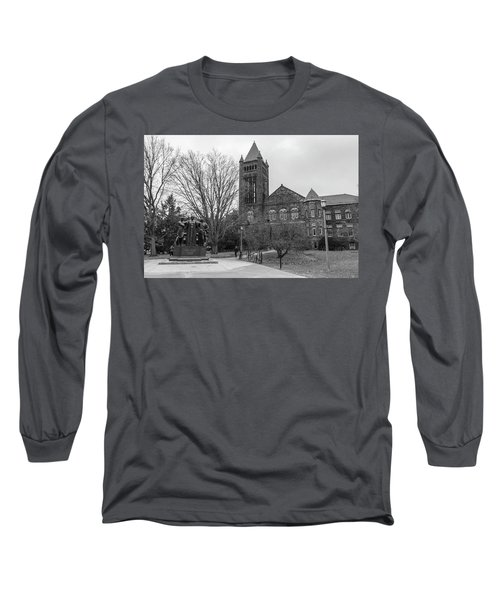Alma Mater And Law Library University Of Illinois  Long Sleeve T-Shirt