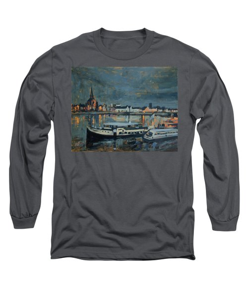 Almost Christmas In Maastricht Long Sleeve T-Shirt by Nop Briex