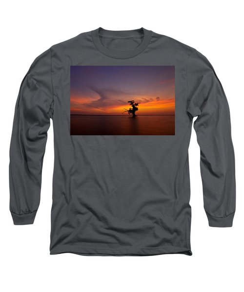 Long Sleeve T-Shirt featuring the photograph Alone by Evgeny Vasenev