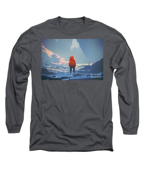 Alone In Winter Long Sleeve T-Shirt