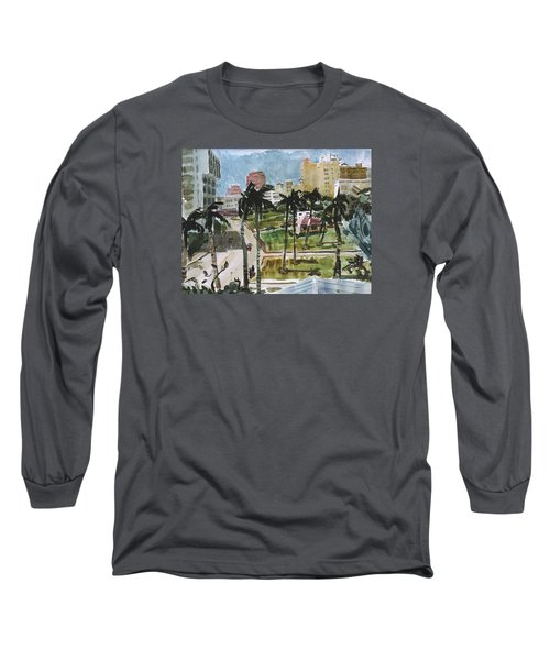 Along Flagler Drive Long Sleeve T-Shirt