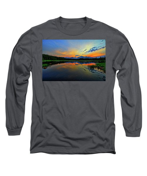 Long Sleeve T-Shirt featuring the photograph Alpine Lake Glow by Scott Mahon