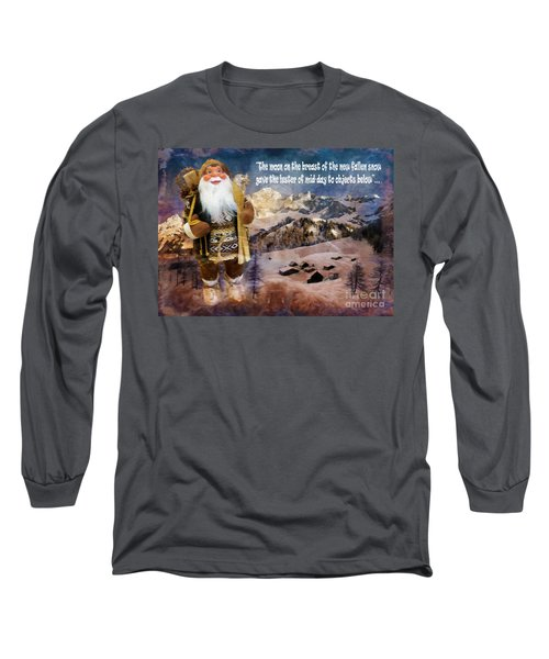 Alpine Santa Card 2015 Long Sleeve T-Shirt